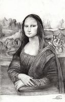 mona lisa with fella by Shimda