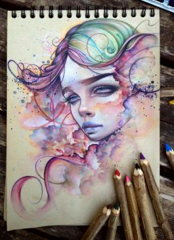watercolours and  pencils 2 by Lideeh