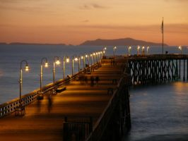 The Pier at Twilight by fucknsk8rchick