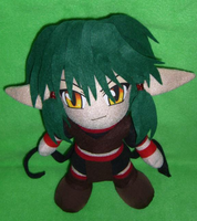 Kisshu Plushie Process Pic 10 by WolfTwine