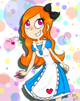 Haley In Wonderland color by Me C: by 27Leslie