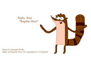 Rigby, from Regular Show by sonic-fan-126