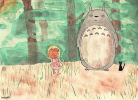 Ghibli Watercolor by MyGodLives