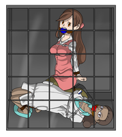 Commission:Caged pokegirls by kupoexe
