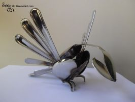 Small winged Cutlery Sparrow by Sovriin
