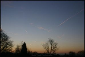 Contrail Morning by MetalTrack