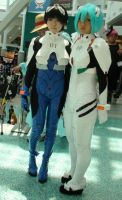 Shinji Ikari and Rei Ayanami at AX 2013 by trivto