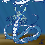 Water Demon by SaryTheWolf