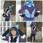 Shadowbolts Fleece Hoodie by RufousCat