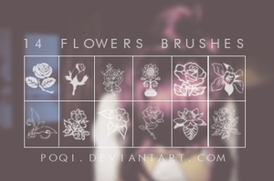 {14 Flowers Brushes} by Poqi
