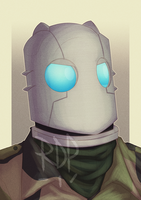 atomic robo bust - commission by samuraiblack