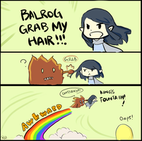 Balrog Grab My Hair by SaerwenApsenniel