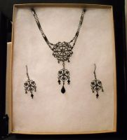 Gunmetal Filigree Set by GraceStudios
