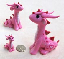 Pink Valentine Dragon by DragonsAndBeasties
