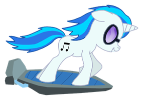 DJ-P0N3 on teh hoverboard by ProteusIII