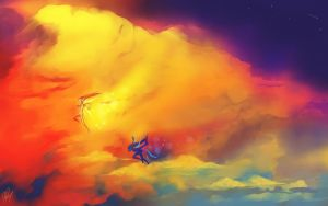 Sky Dancers by CeruleanRaven