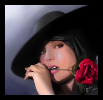 Lady red rose by MaoUndo