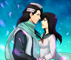 Kagome x Byakuya Near Kiss by AuraRaPhen