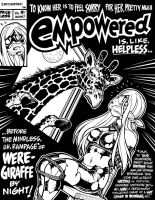 EMPOWERED's faux WERE-GIRAFFE BY NIGHT cover by AdamWarren