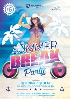 Summer break flyer by doghead