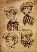 Eric Gisllespie faces by selene-nightmare69