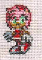 X-Stitch Fanart- Amy Rose by missy-tannenbaum