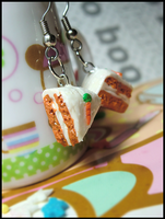 Carrot Cake Earrings by GrandmaThunderpants