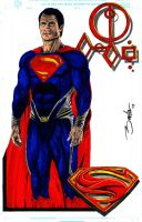 Man Of Steel 2013 color by TRACER70