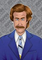 Anchorman - Ron Burgundy by GHussain
