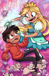Star and Marco by sharkie19
