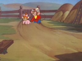 An American Tail Fievel Production Cel by AnimationValley