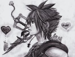 Kingdom Hearts Sora by seago