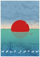 Help Japan Poster by COR-Illustrations