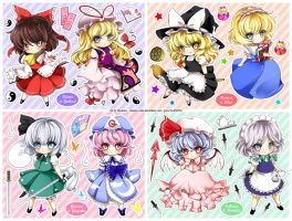 Chibi set - Touhou IN - remake by Ninamo-chan
