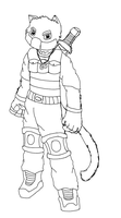 My character as a furry (sketch) by SnakeTeeth12