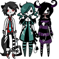 3 set Nightmare Collab: CLOSED by x-Rans-Lovs-Adopts-x