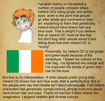 Colour Justification of Ireland by Kimanda