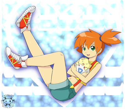 Misty and Togepi (+speedpaint) by Twime777