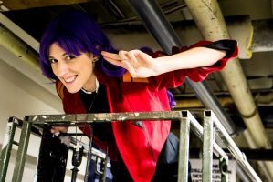 Misato 4 - Hi from up there! by simakai
