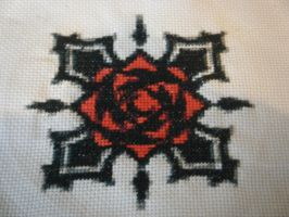 Bloody Rose Cross Stitch by Fay-Fever