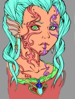 Tera_my coloring Spuds lines by Alanna-QueenofHearts