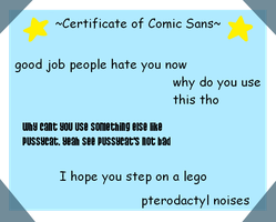A CERTIFRICATE by LoneWolf-7819
