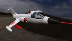 Maya Rendered Starfighter (2012) by Schwoodz