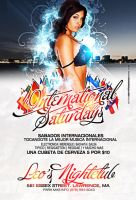International Saturdays Flyer by DeityDesignz