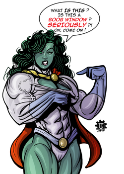 She Hulk Discovers The Boob Window by JINworks