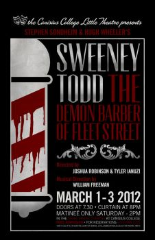 Sweeney Todd Production Poster by ediskrad-studios