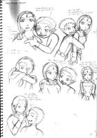 Raven and Beastboy Sketches by rufiangel