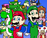Super Mario Bros Show All Stars by Mighty355