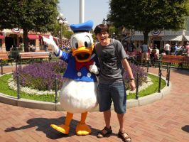 Me With Donald Duck by JoeyWaggoner