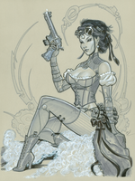 Lady Mechanika commish by MichaelDooney